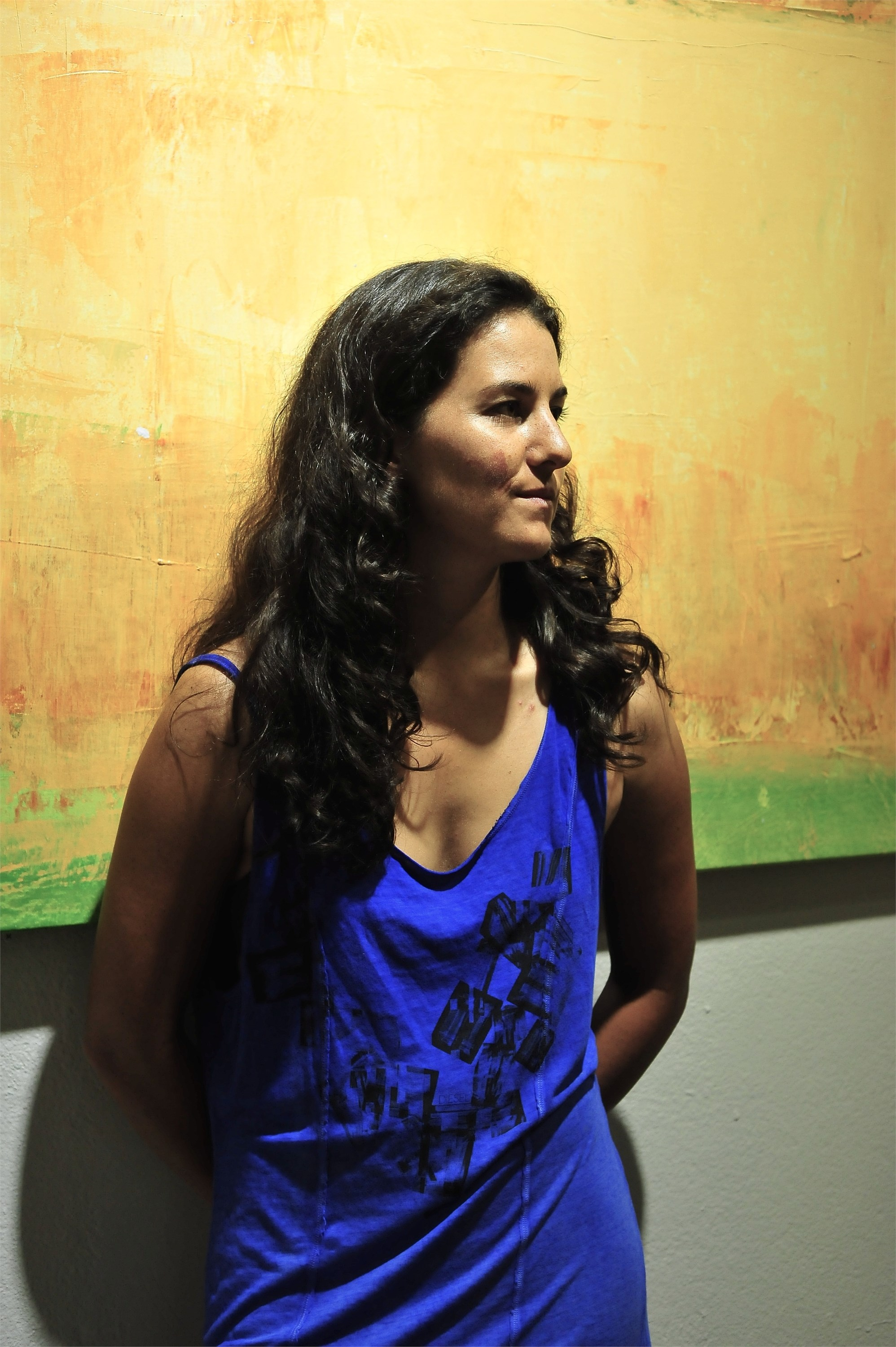 Laura Rebelo , painter at zet gallery