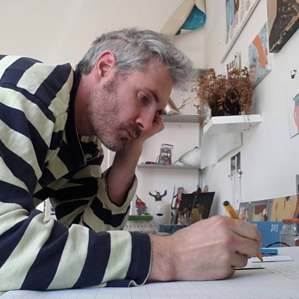 Jay Rechsteiner, painter at shairart