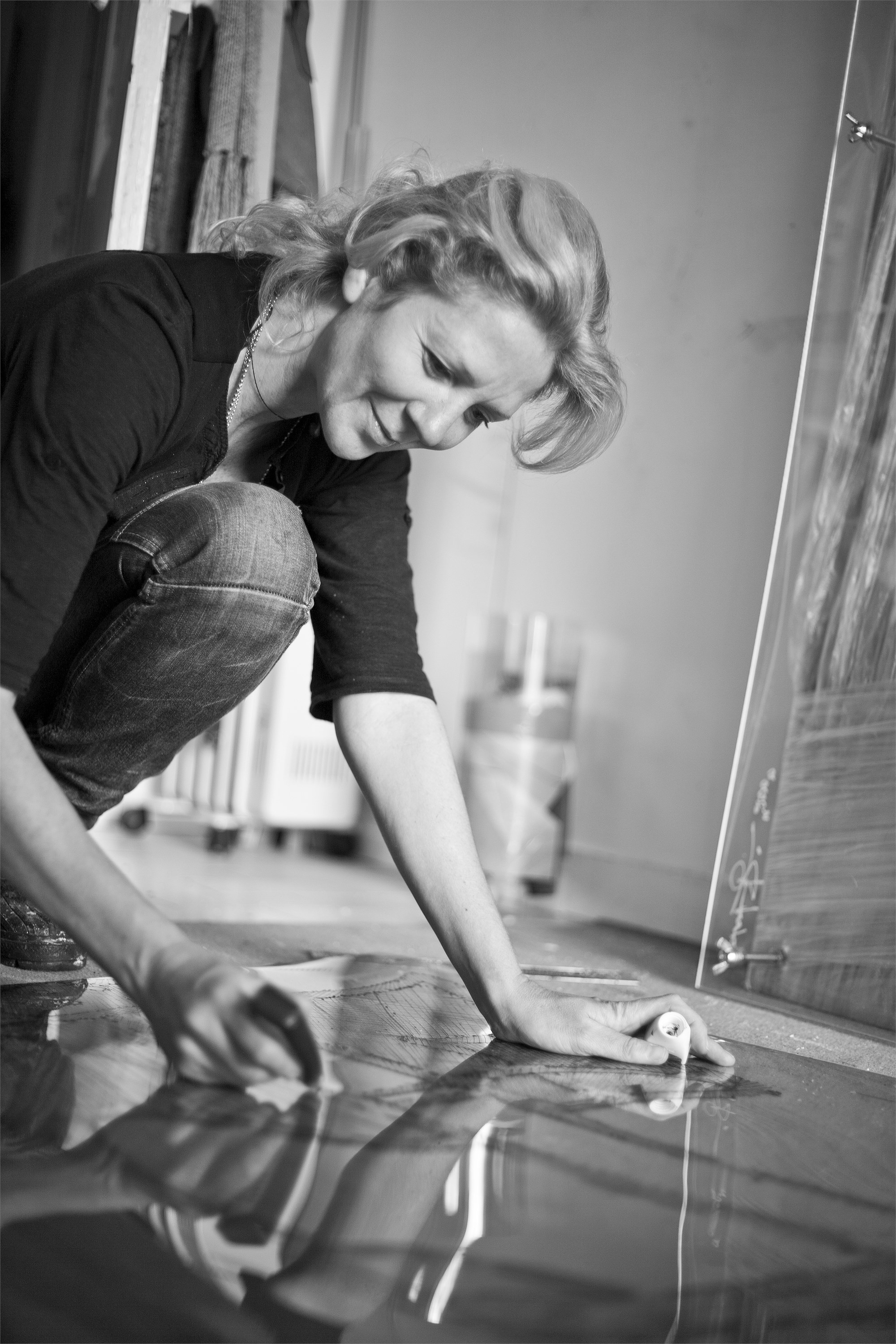 Sandra Baía, painter at zet gallery