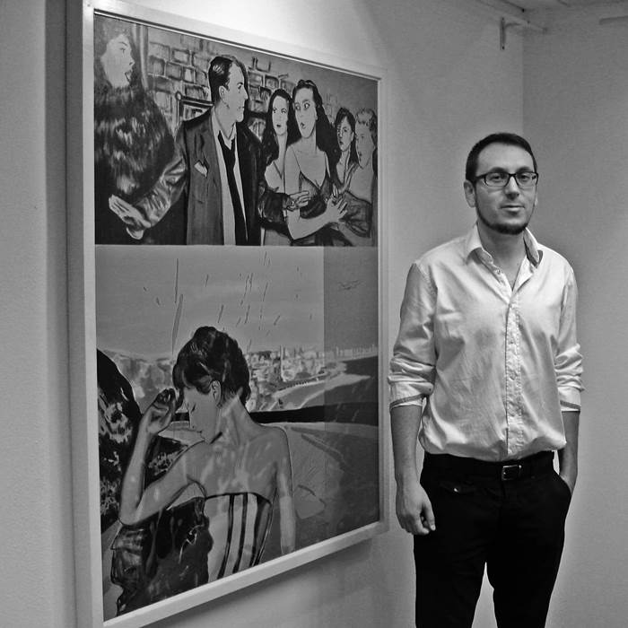 Filipe Rodrigues, painter at zet gallery