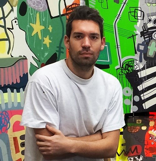 Rafa López, painter at zet gallery