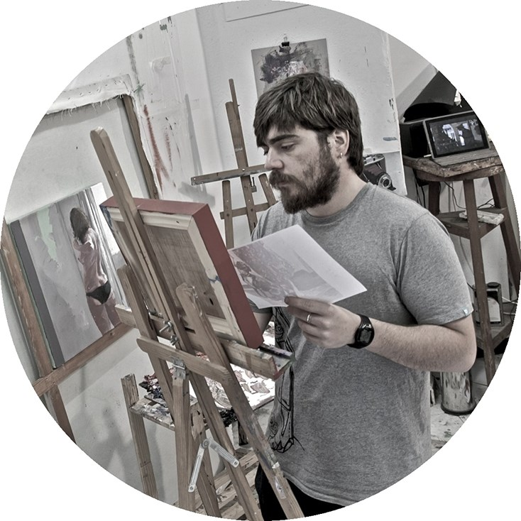 Alejandro Casanova, painter at zet gallery