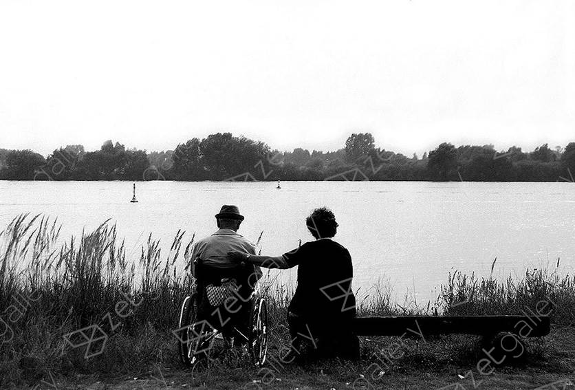 Sad Couple, original B&W Analog Photography by Heinz Baade