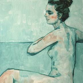 Claire 10, original Human Figure Canvas Painting by Carl  Chapple
