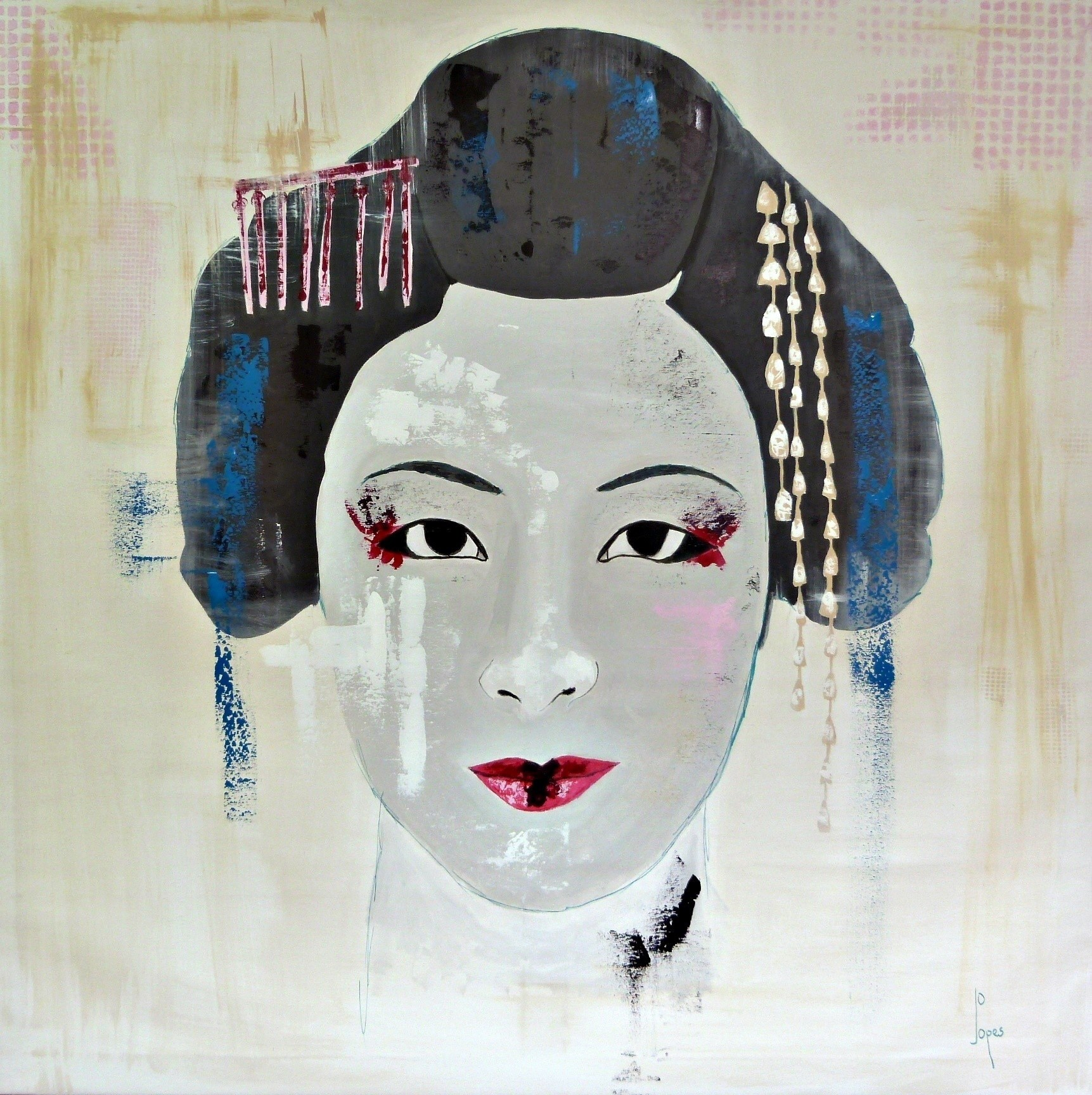 Gueixa, original Woman 0 Painting by Jo  Lopes