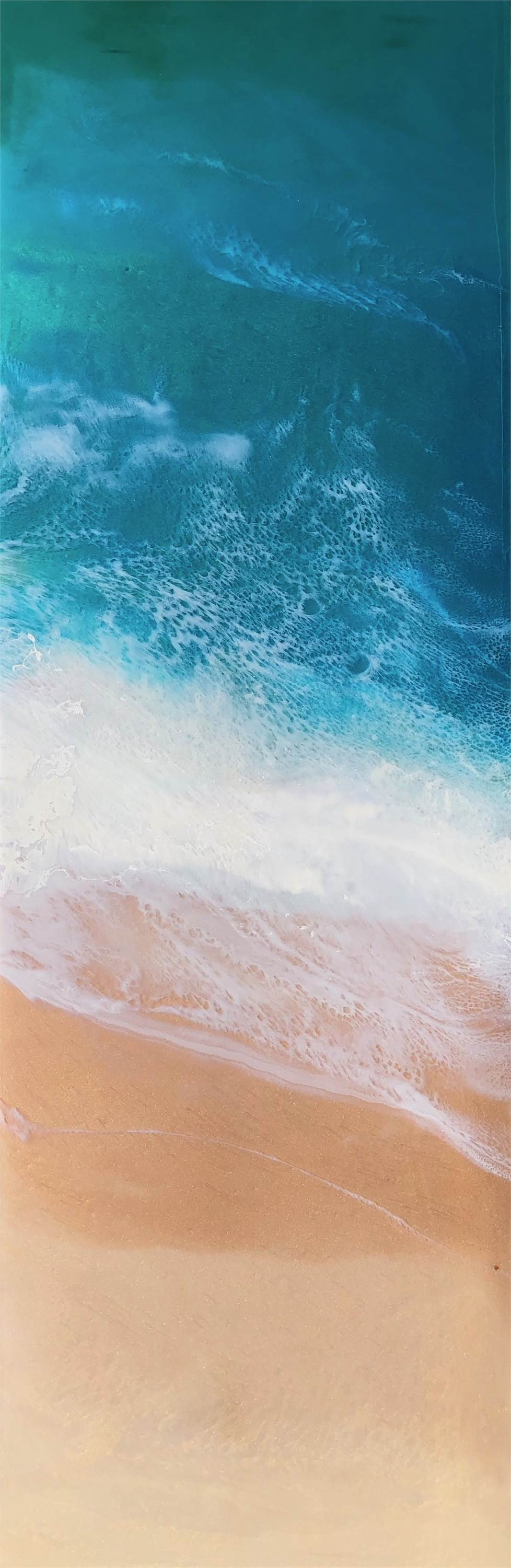 Lulling of the Sea, original Nature Mixed Technique Painting by Tiffani Buteau