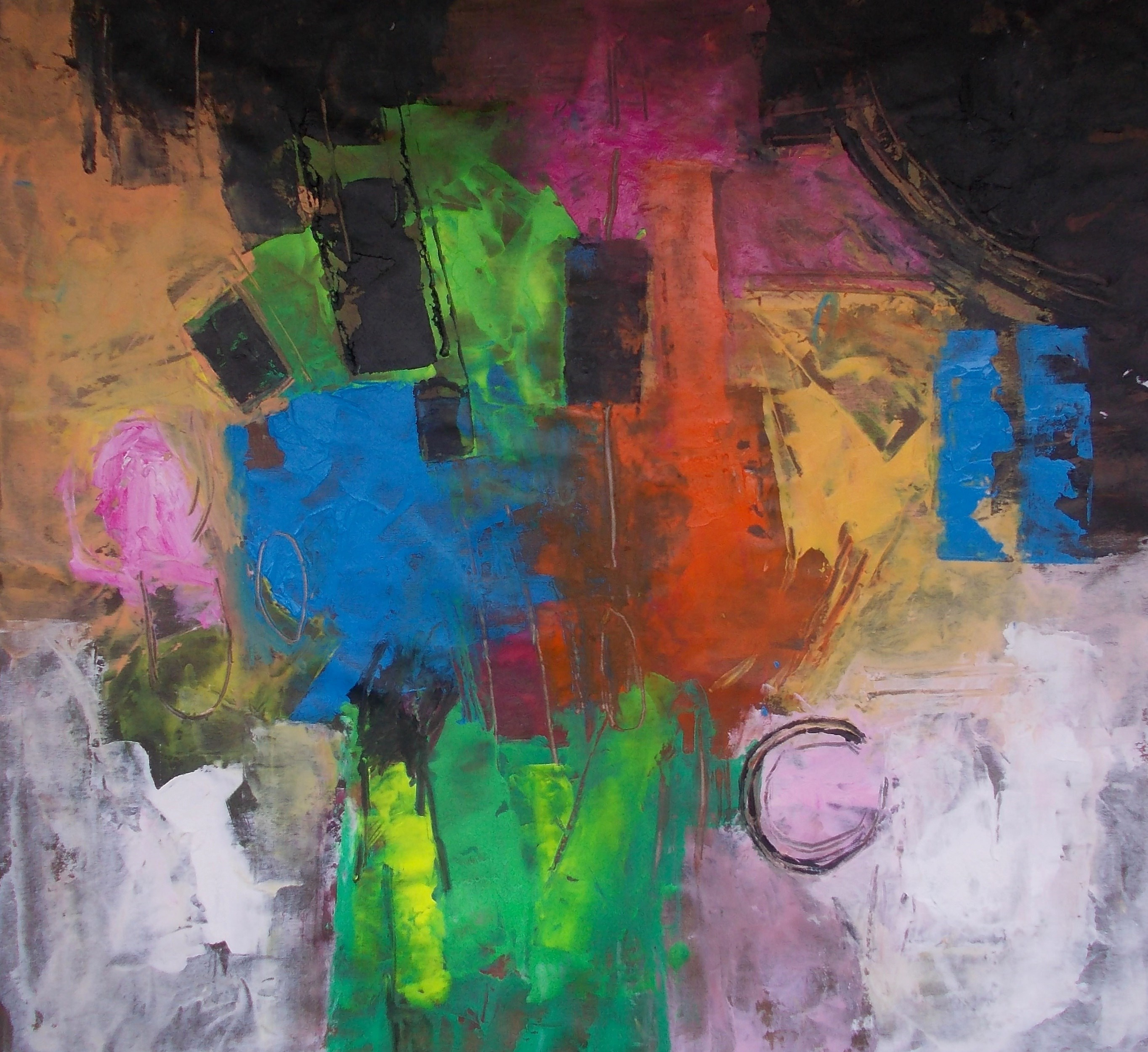 A insustentável leveza da cor, original Abstract Acrylic Painting by Francisco Santos