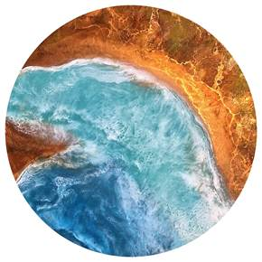 Canyon Cove, original Nature Mixed Technique Painting by Tiffani Buteau