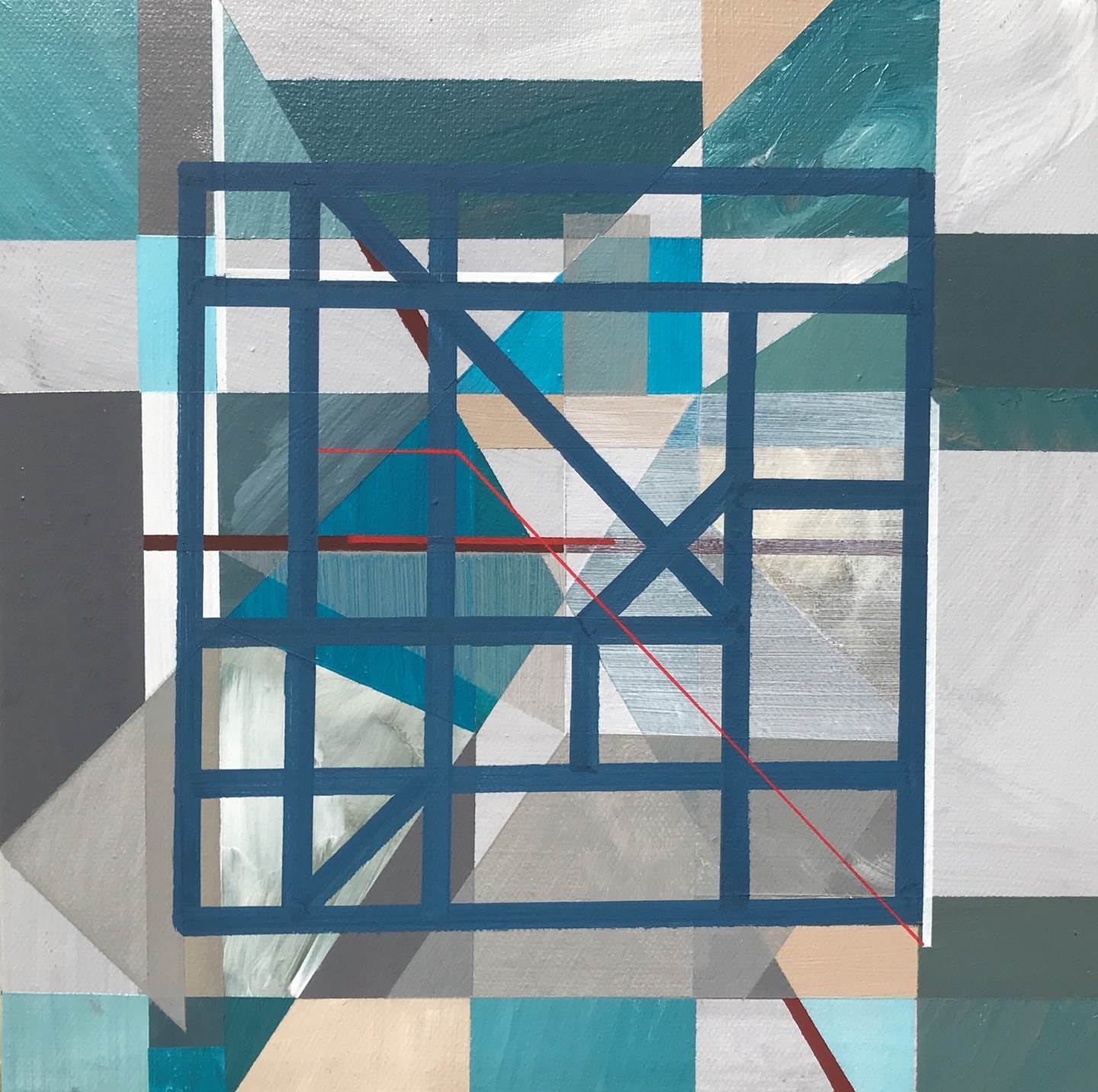 """Non-Structural III"" , original Geometric Acrylic Painting by Pedro Besugo"