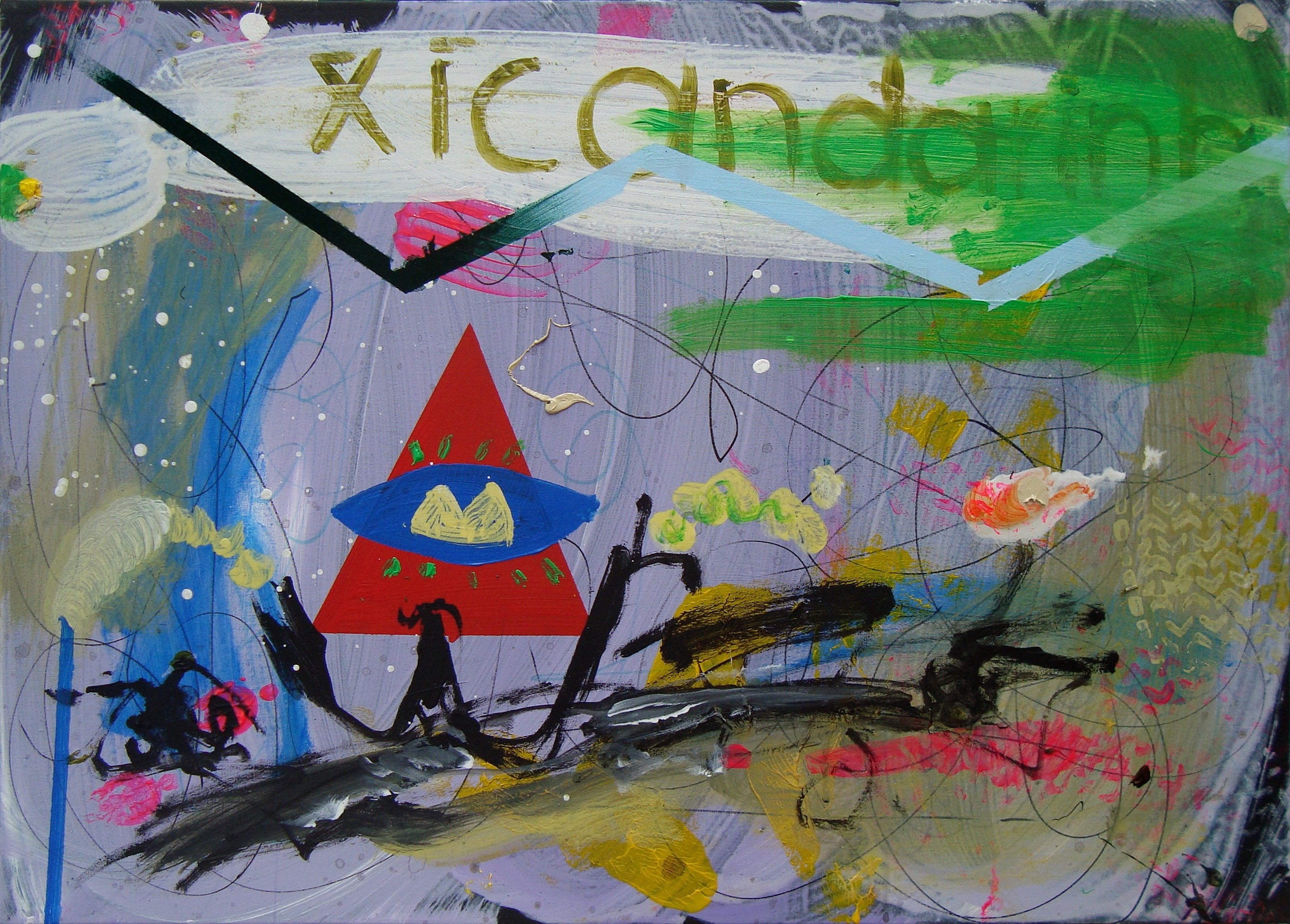 From the past to the future, Pintura Acrílico Abstrato original por Ilídio Candja Candja