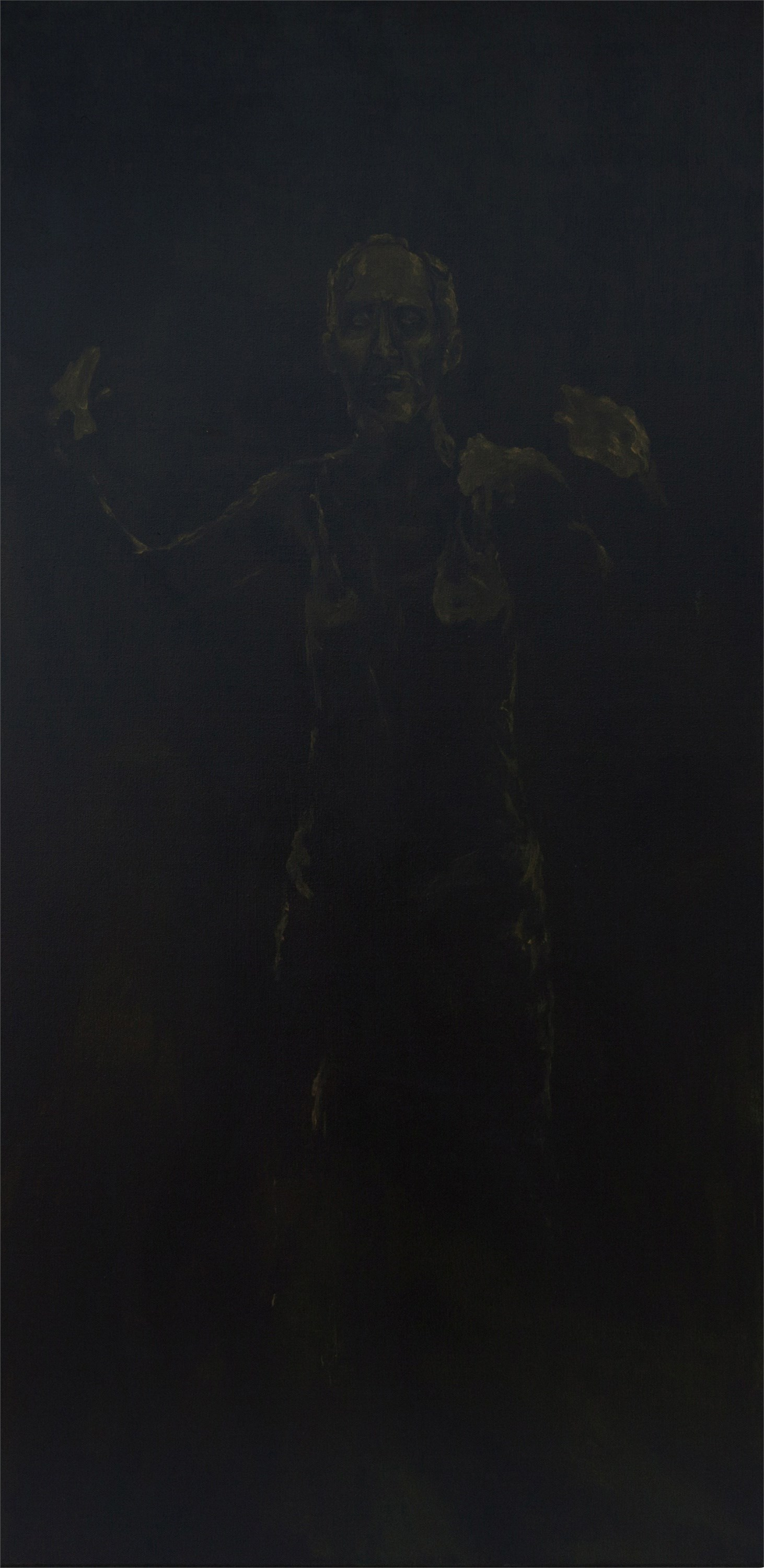 da distância , original Human Figure Canvas Painting by Pedro dos Santos Silva