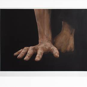Statment. The Hands., original Body Oil Painting by Maria Luzia Almeida Cunha Alegre Silva