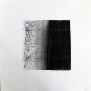 Drawn Inward V, original Abstract Charcoal Drawing and Illustration by Mariana Alves