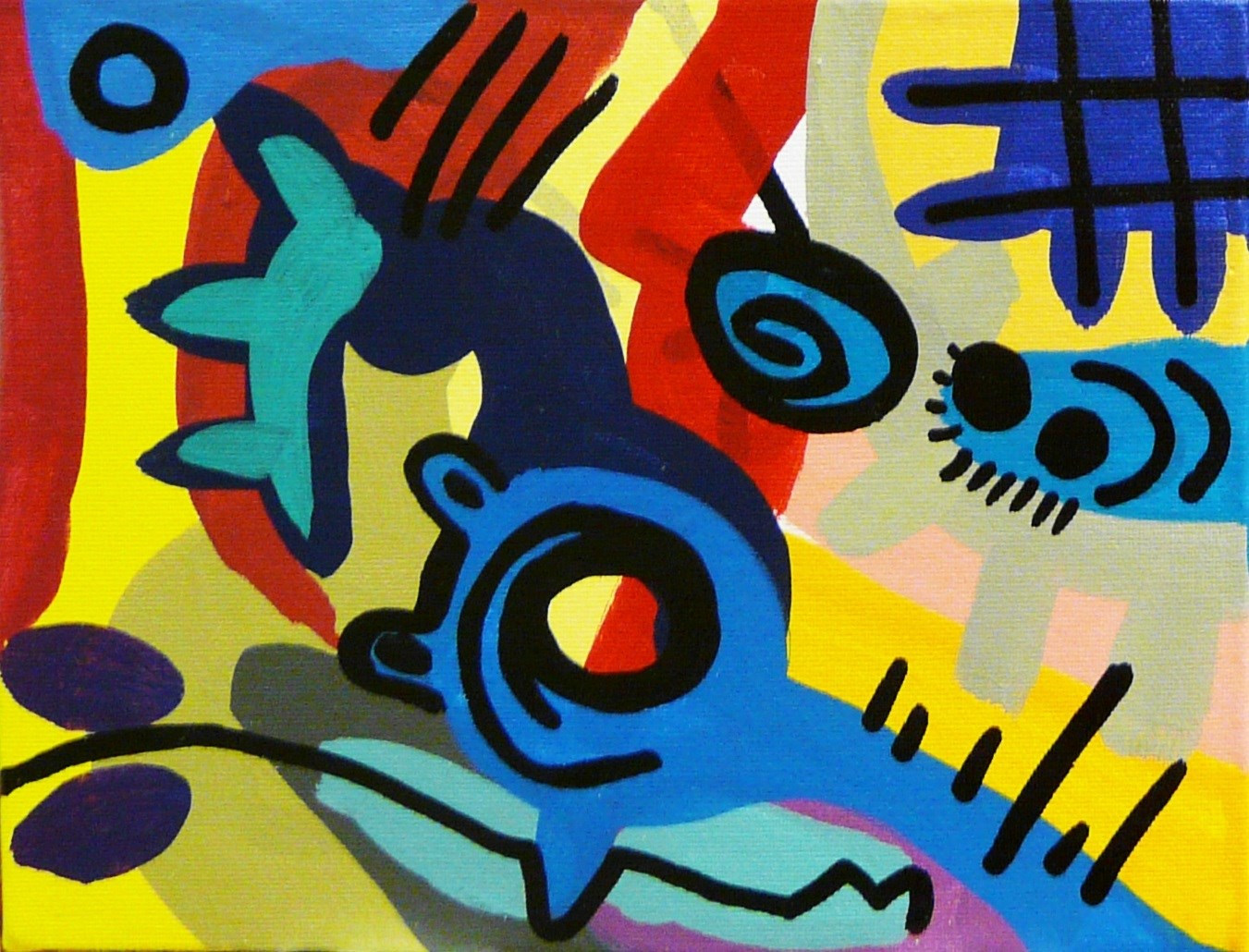 ambientes Sucumbidos 7, original Human Figure Canvas Painting by Rafa López