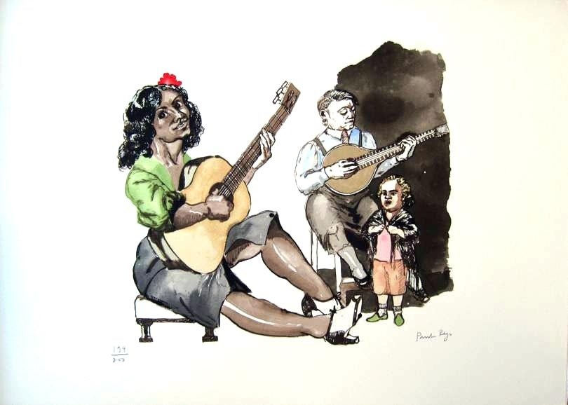 O Fado, original  Silkscreen Drawing and Illustration by Paula Rego