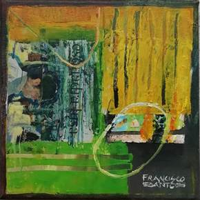 Na praia, original Abstract Acrylic Painting by Francisco Santos