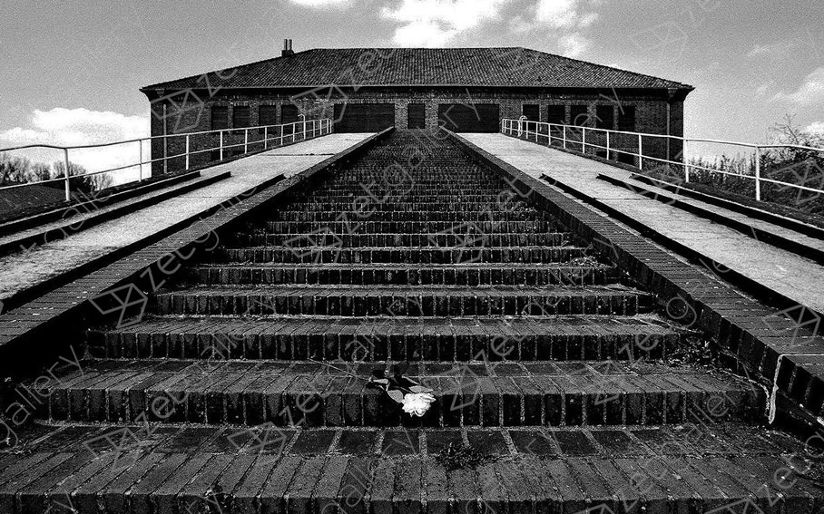Memorial Neuengamme concentration camp, original Architecture Analog Photography by Heinz Baade