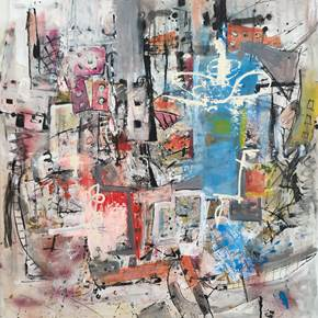 Fabelas, original Abstract Acrylic Painting by Flavio Man