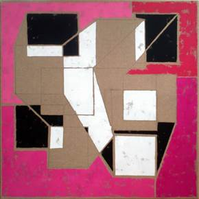 Space 7, original Geometric Acrylic Painting by Luis Medina