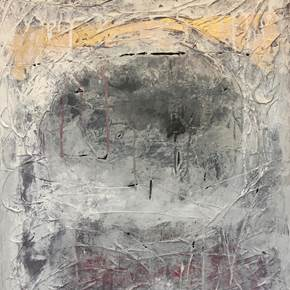 What happened at Golgotha?, original Abstract Acrylic Painting by Andrés Montenegro