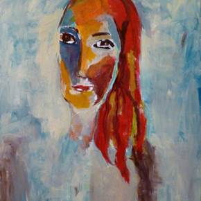 Mulher 1, original Woman Acrylic Painting by Teresa Ricca