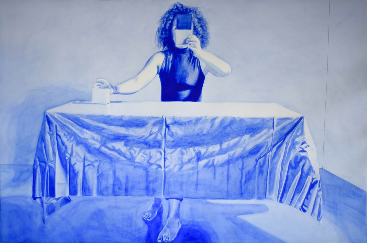 READYMADE CHOICES #Blue, original Human Figure Paper Painting by Sónia  Carvalho