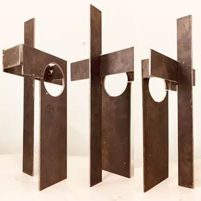 DEBRIS OF GENTRIFICATION, original Abstract Metal Sculpture by André Costa