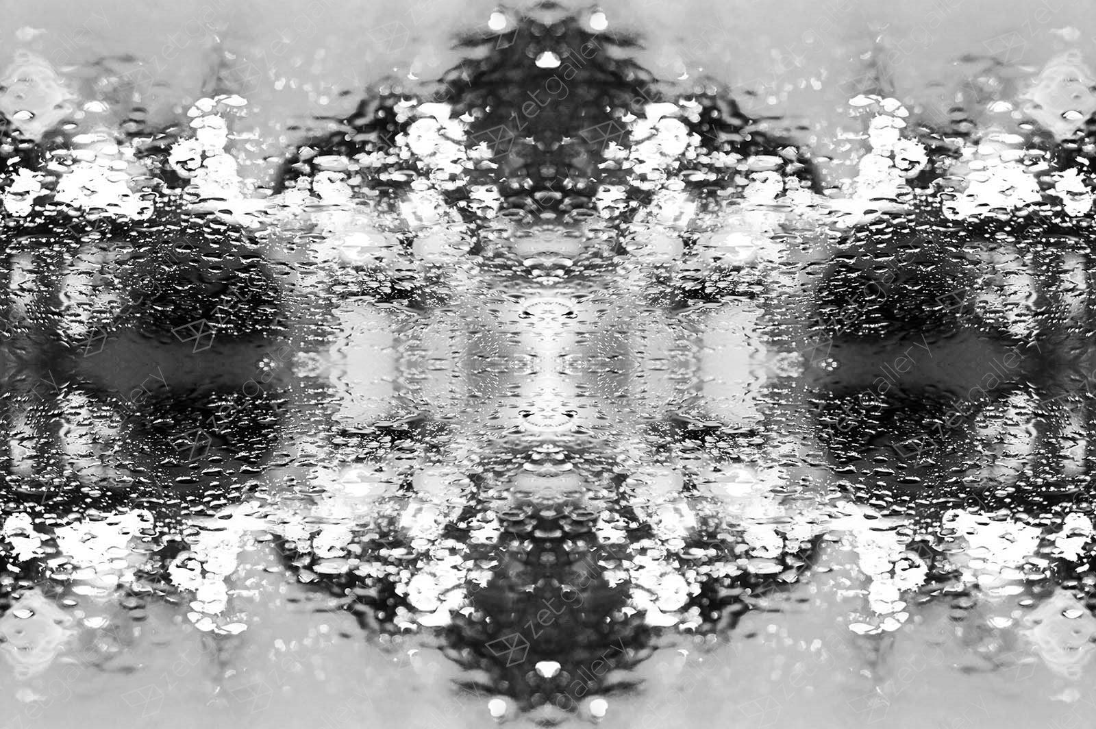 Through the Droplet, through the Glass 3, original Geometric Digital Photography by Goeth Zilla