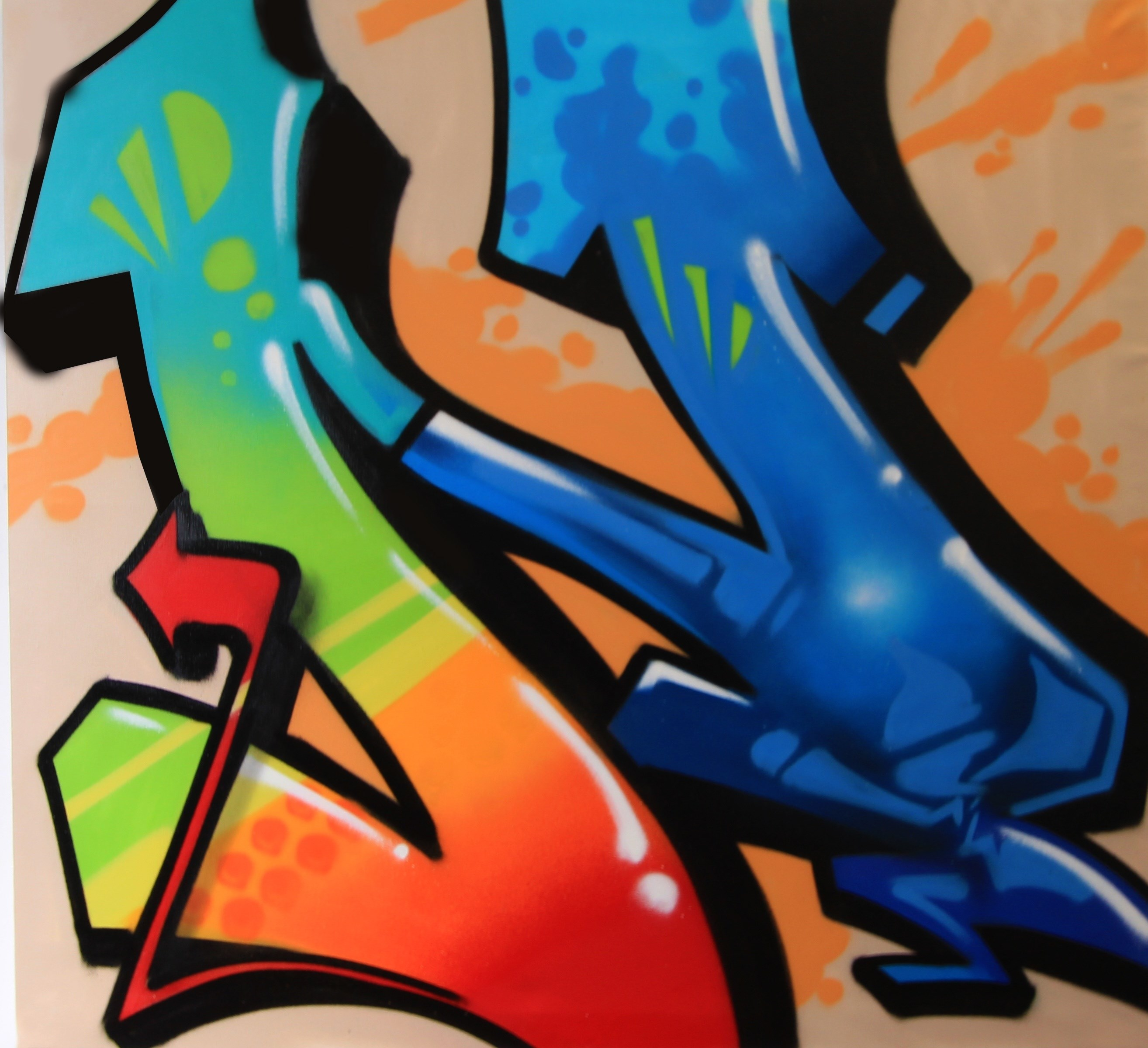 N stands for Nomen, Pintura Graffiti Abstrato original por Nomen Nuno