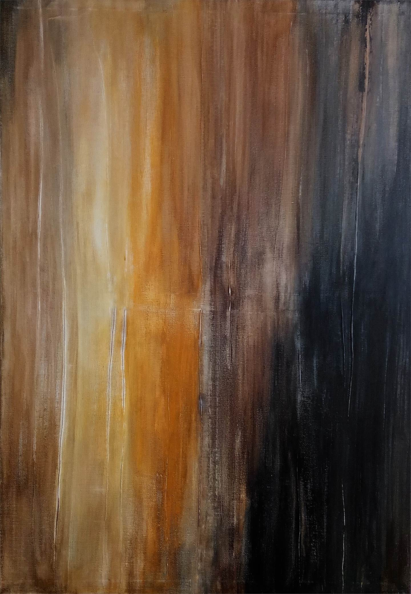 Burned, original Abstract Acrylic Painting by Artur Efigénio