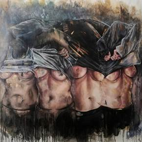 Naked Portraits II, original Body Oil Painting by Daniela Guerreiro