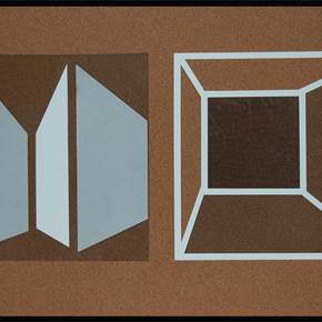 Boxes, original Abstract Mixed Technique Painting by David Barnes
