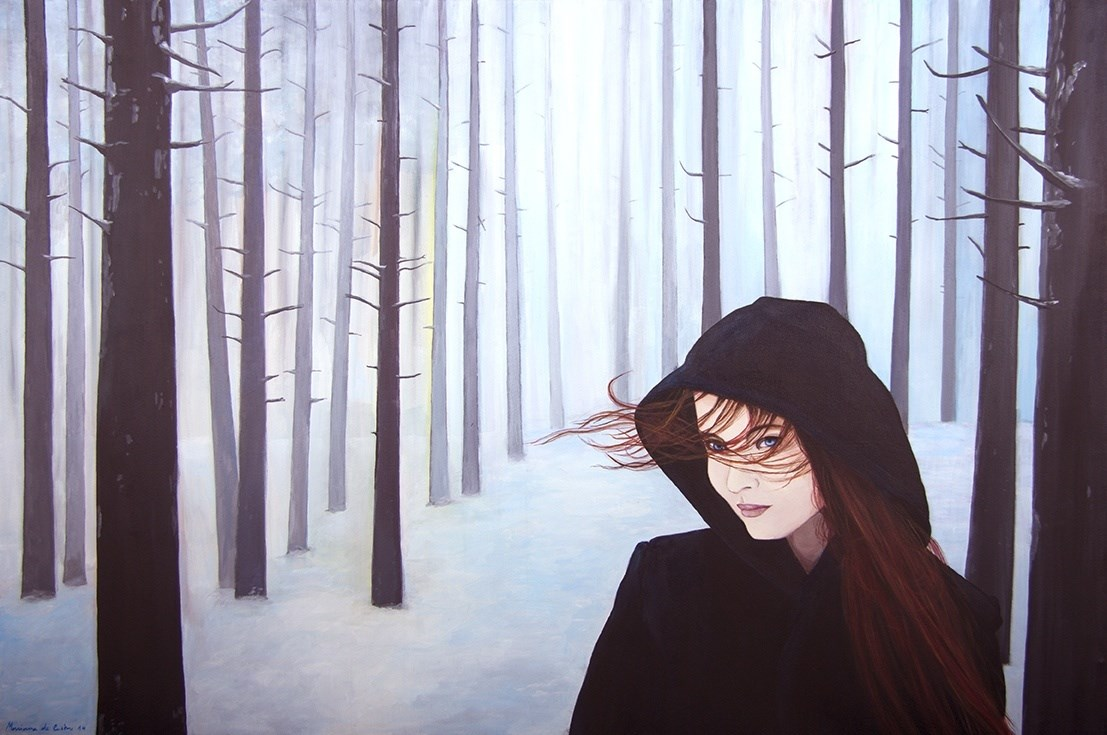 White Snow, original Human Figure Acrylic Painting by Mariana de Castro