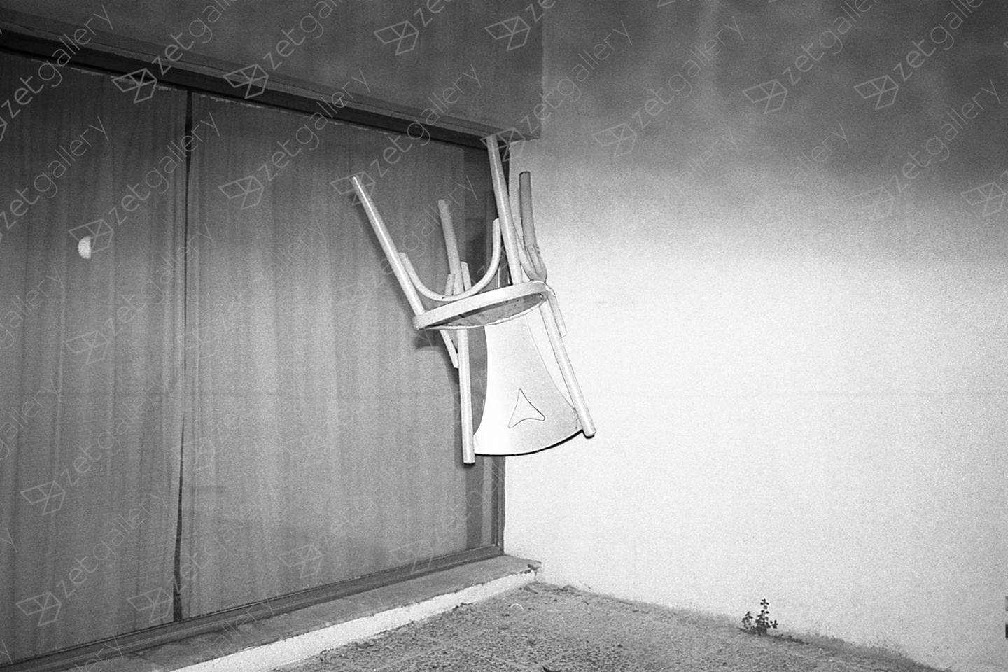 Floating Chair, original B&W Analog Photography by Yorgos Kapsalakis