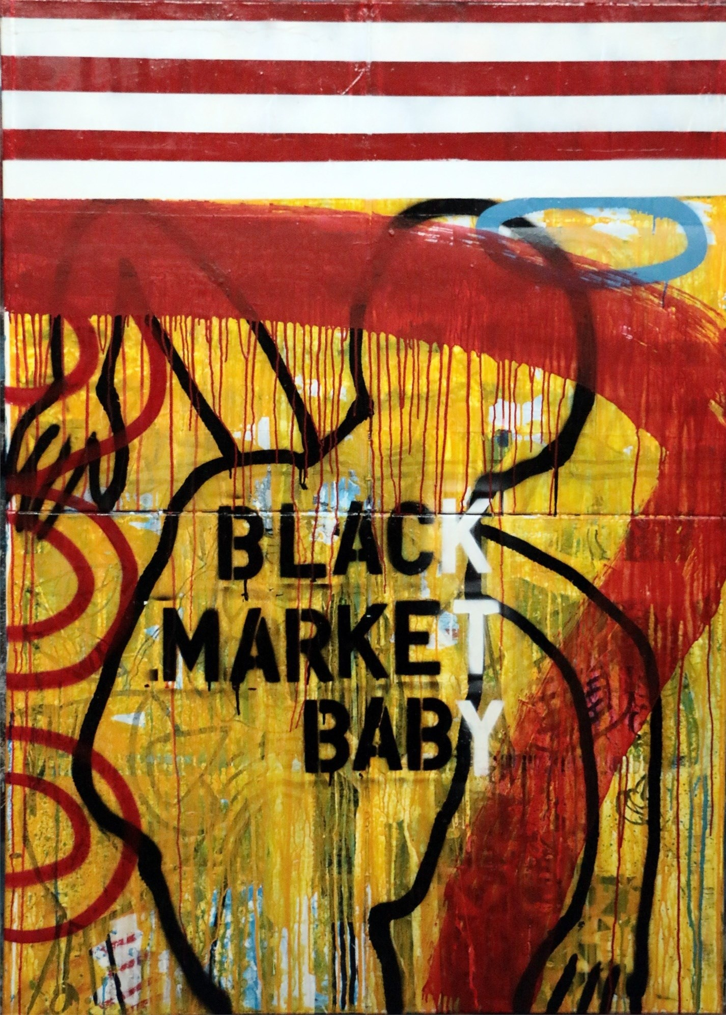 Black Market Baby, original Abstract Acrylic Painting by Paulo Moreira