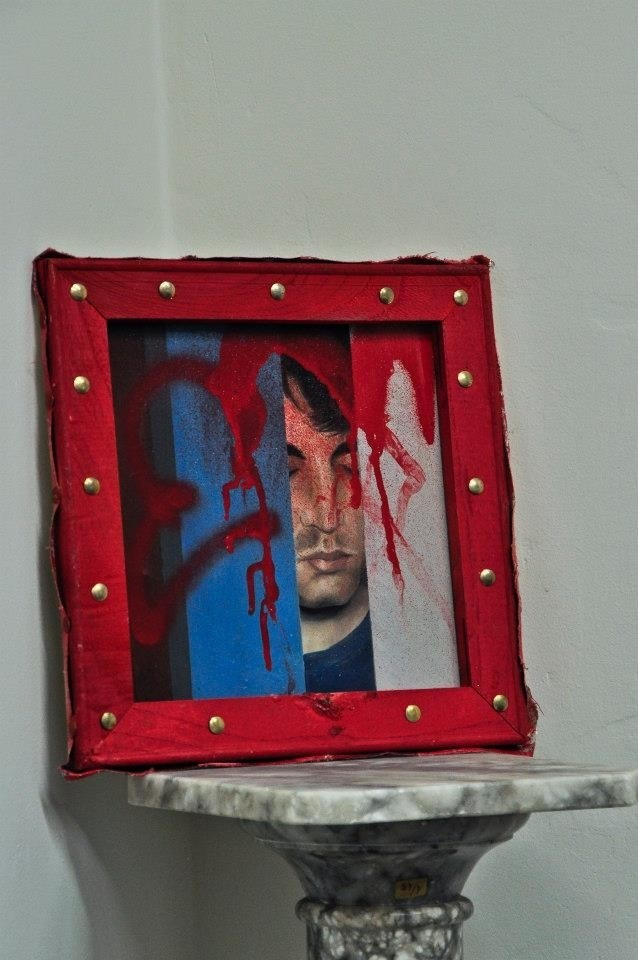 Interpretação de Auto-retrato de Arlindo Silva, original Man Canvas Painting by Diogo  Goes