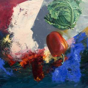 Sem Título, original Still Life Oil Painting by Pedro Rocha
