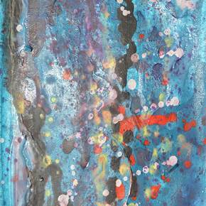 Color Rain, original Abstract Acrylic Painting by Andrei Autumn