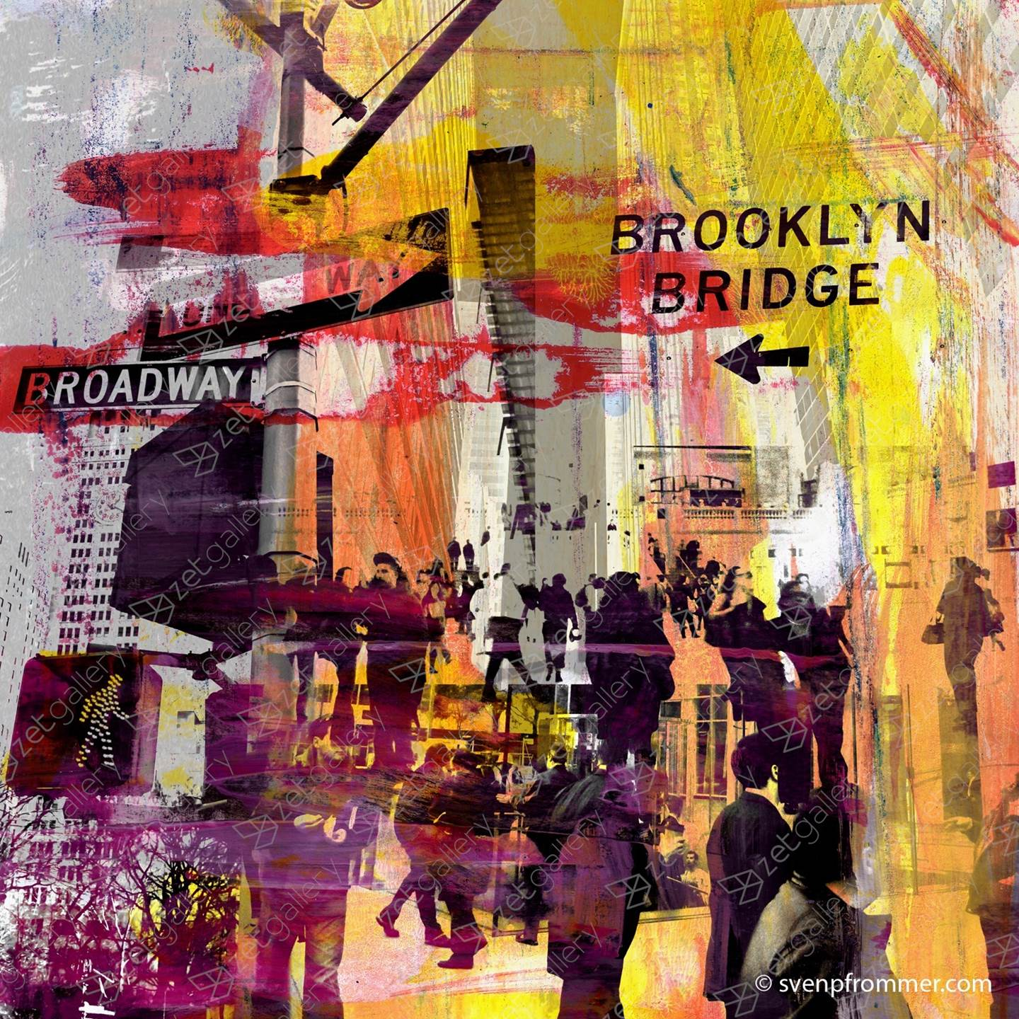 NEW YORK DOWNTOWN X, original Abstract Digital Photography by Sven Pfrommer