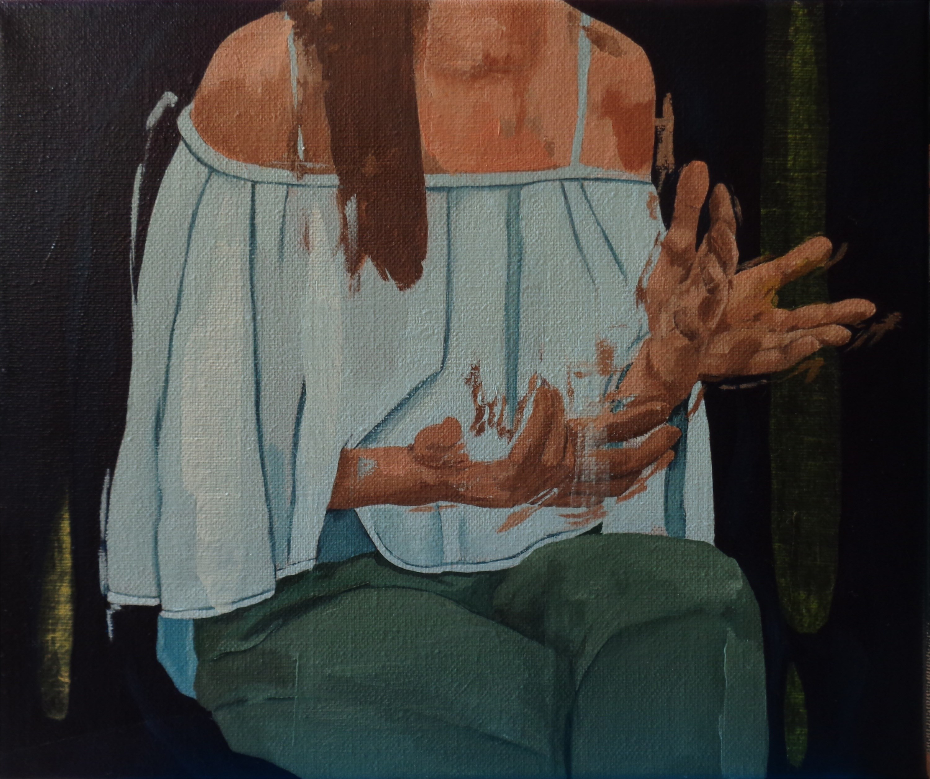 Rita's hands, original Abstract Oil Painting by João Teixeira