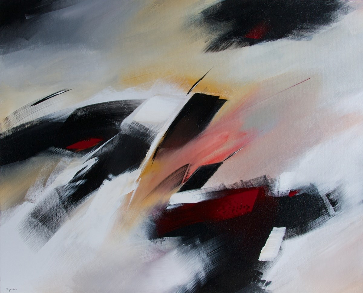 """Force de caractère"", original Abstract Acrylic Painting by Paul  Mathieu"