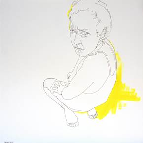 Exercício #1, original Body Acrylic Drawing and Illustration by Cristina  Troufa