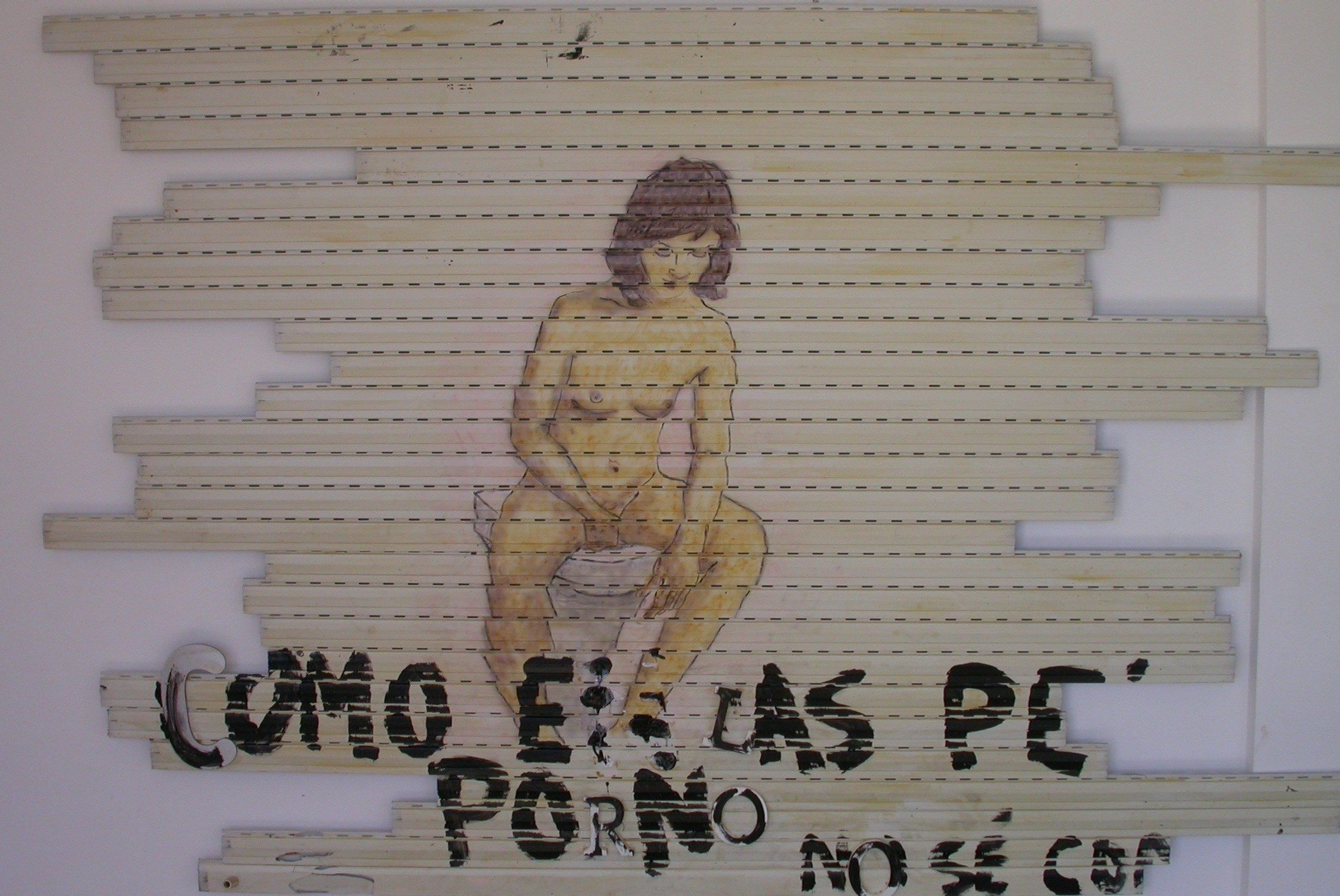 Como en las películas porno, original Big Mixed Technique Painting by Ricardo de Campos