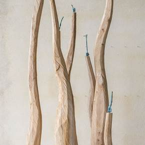Rebentos, original Nature Wood Sculpture by Paulo Neves