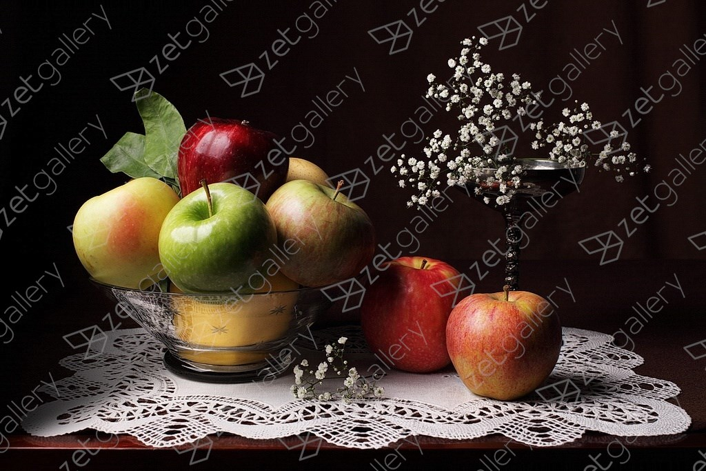 Bodegón de las ocho manzanas, original Still Life Digital Photography by Cecilia Gilabert