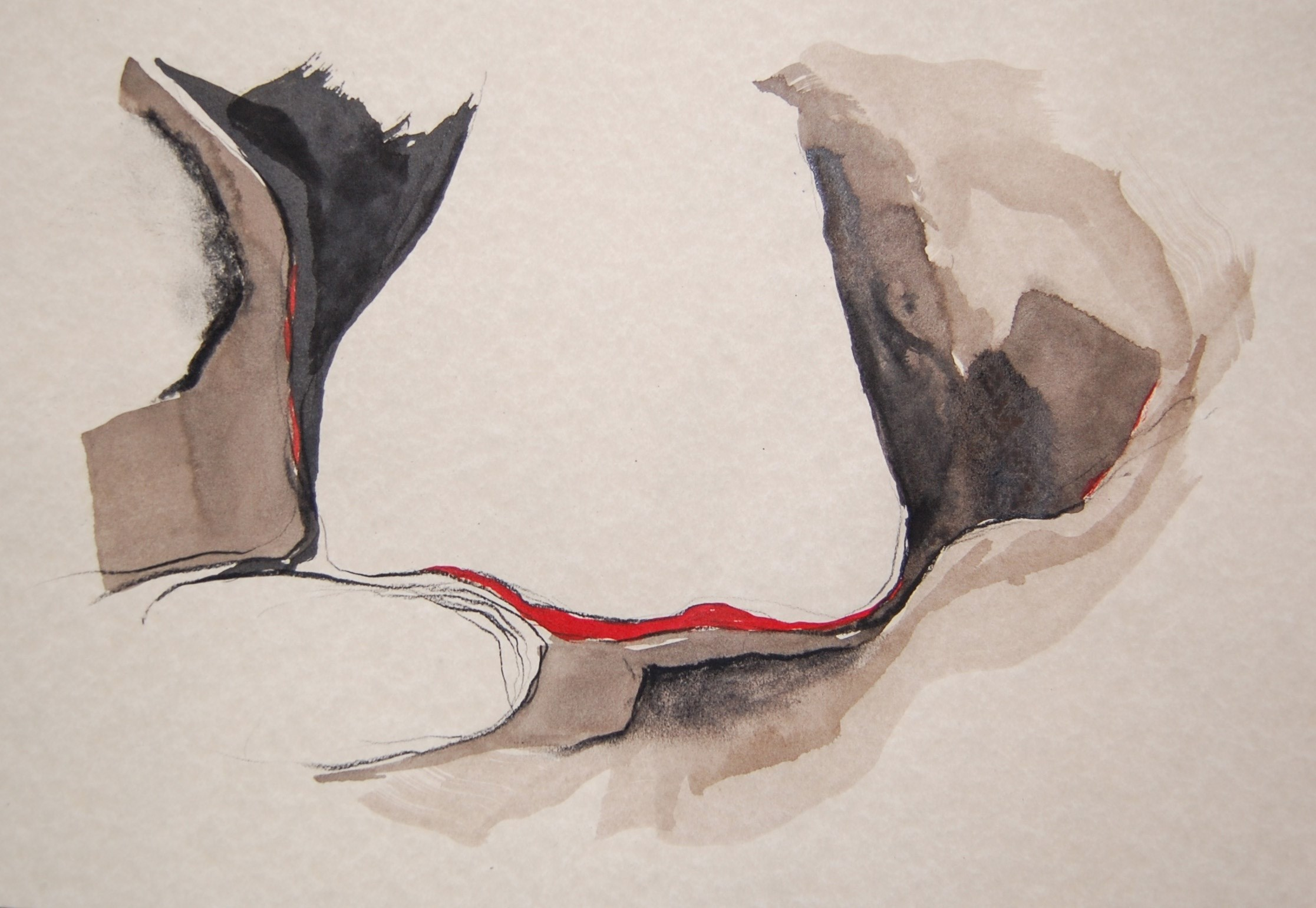Perfume_8, original Abstract Ink Painting by Paulo Canilhas