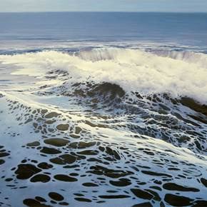 On the wave, original Landscape Canvas Painting by Jose Higuera