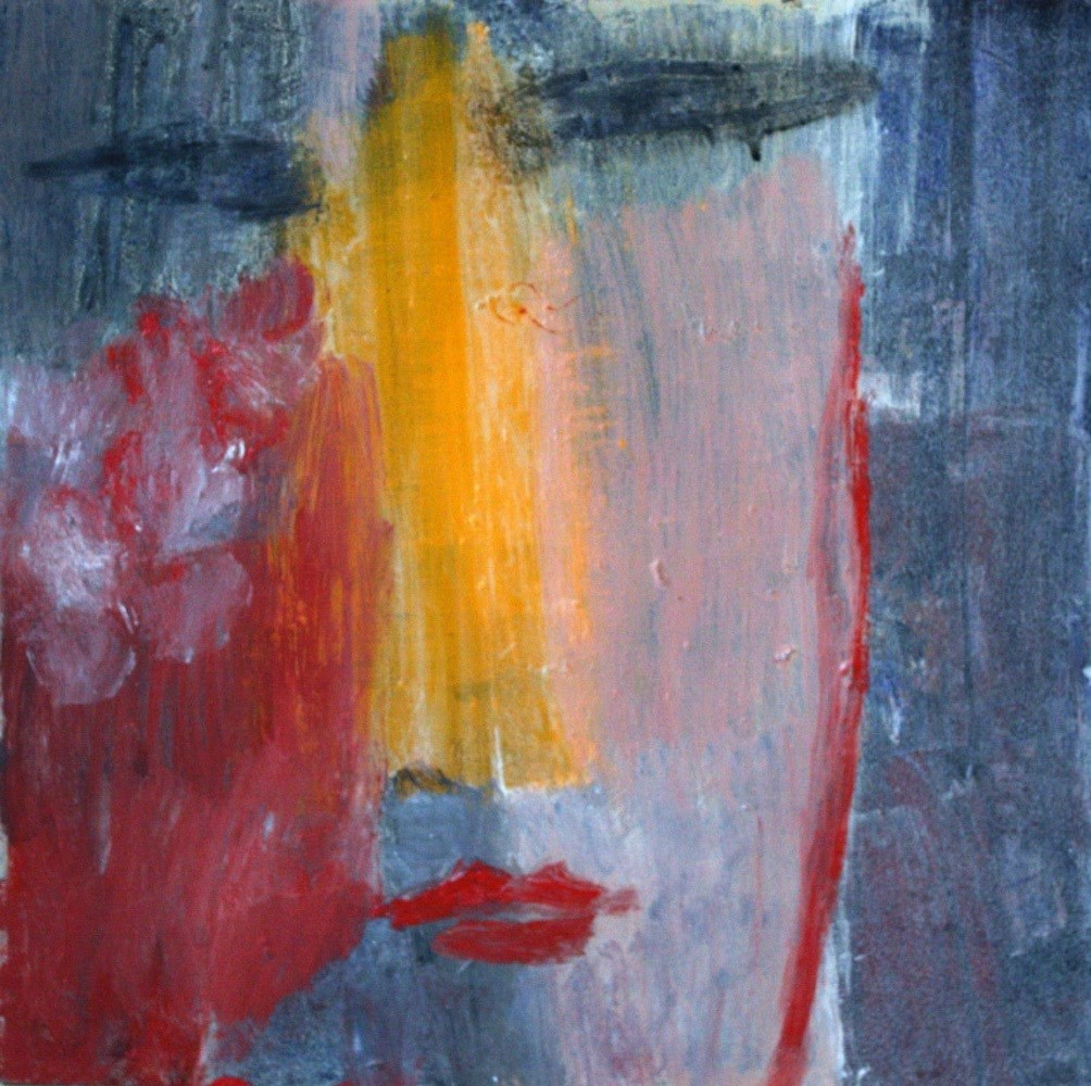 Portrait, original Abstract Encaustic Painting by Irene Maria-Amerbacher