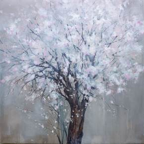 Prunus Dulcis, original Nature Acrylic Painting by Luís Freitas