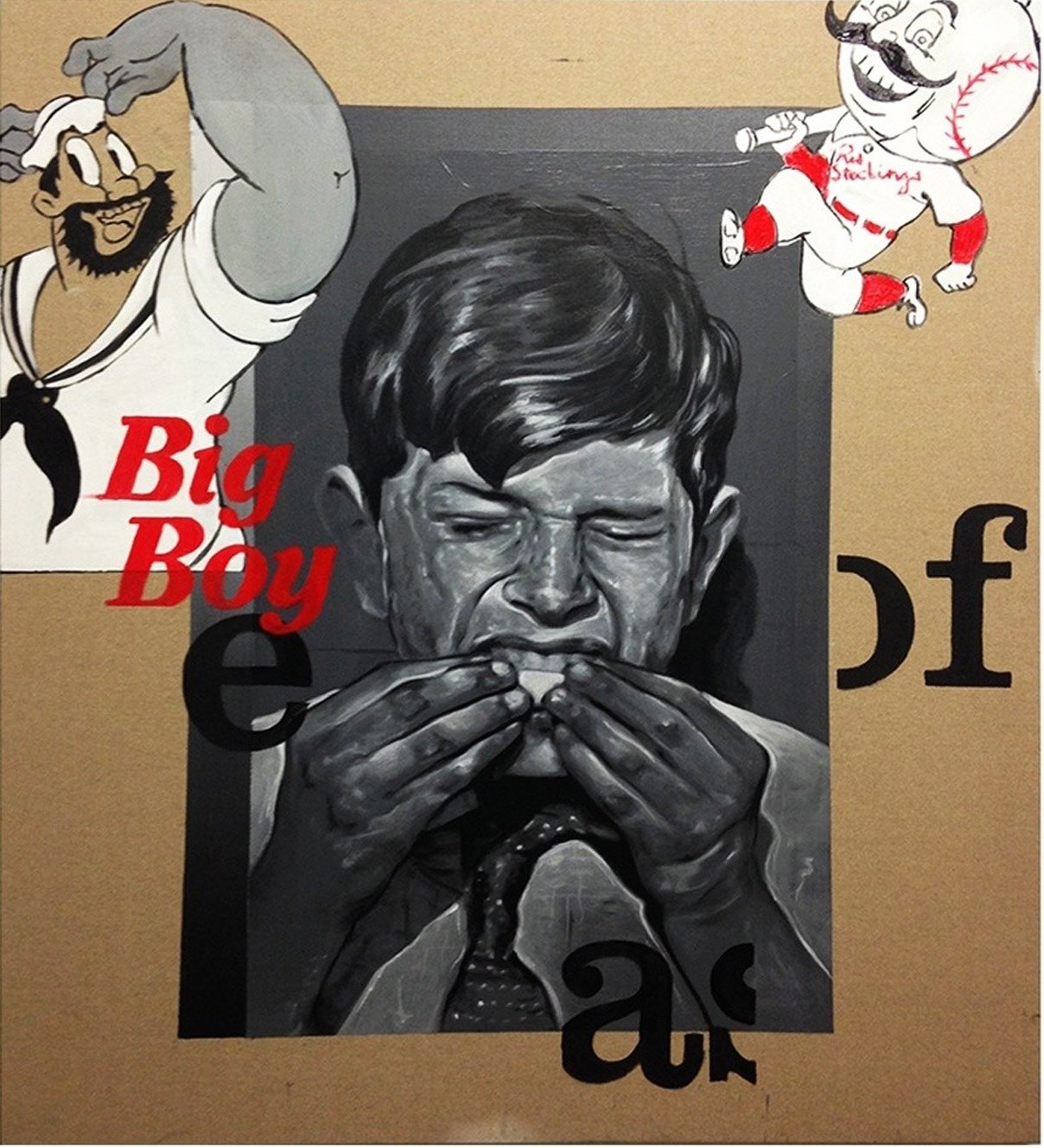 Big Boy, Pintura Acrílico Abstracto original por David Rosado